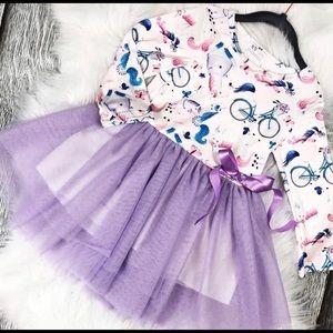 Other - KIDS purple unicorn tulle dress